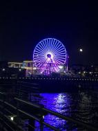 The ferris wheel on the pier