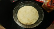 After the first rise, knead again for about 5 minutes.